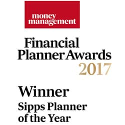 Money Management Financial Planner Awards 2017 - WINNER Sipps Planner of the Year
