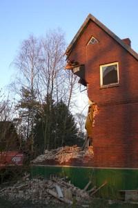 House falling down